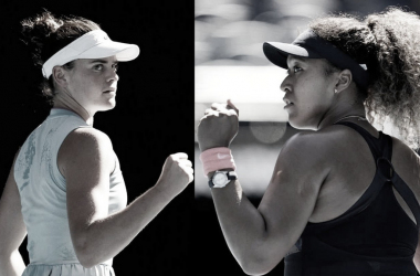 "<p><font size=""4""><b>Jennifer Brady y Naomi Osaka (derecha) Foto @AustralianOpen/montaje<br></b></font></p>"