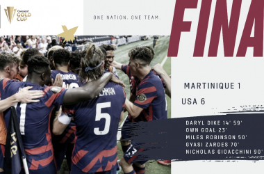 Estados Unidos, la tercera selección clasificada a los cuartos de final de la Copa Oro 2021:| Fotografía: U.S.Soccer