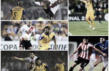 Armani, Enzo Pérez, Ponzio, Mayada, Maidana: campeones de América (Fotomontaje).