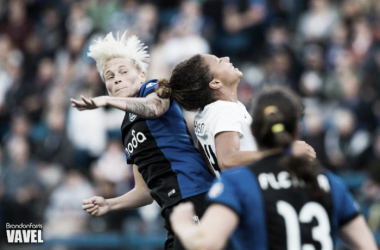 Jess Fishlock (left in 2015) is one of three Seattle Reign players named to Cyprus Cup rosters (Photo: Vavel.com)