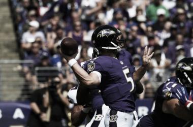 Joe Flacco leads Ravens to first win of the season. | Photo: Baltimore Ravens
