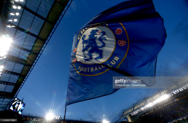 The Chelsea flag ahead of the Premier League match between Chelsea FC and Brighton & Hove Albion at Stamford Bridge on April 03, 2019 in London, United Kingdom. (Photo by Chloe Knott - Danehouse/Getty Images)