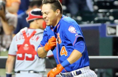 Wilmer Flores after his game winning home run on Friday night. (Photo: Anthony Gruppuso, USA Today Sports)