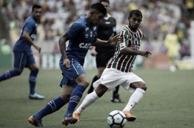 Fluminense jogando contra o Cruzeiro no Maracanã, pelo Campeonato Brasileiro de 2018 (Foto:Lucas Merçon/FFC)