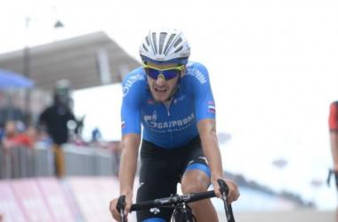 Foliforov a fait sensation en remportant la 15e étape du Giro (Crédit : Twitter @CDNCyclingMag)