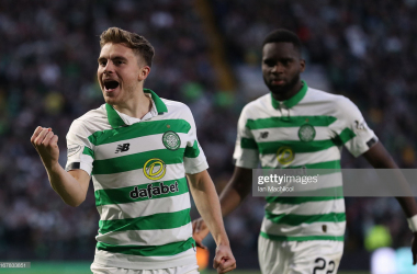 James Forrest's strike sends Celtic into the Quarter Finals (Photo by Ian MacNicol/Getty Images)