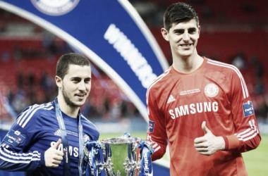 Hazard y Courtois son dos de los pilares del Chelsea   Foto: Chelsea
