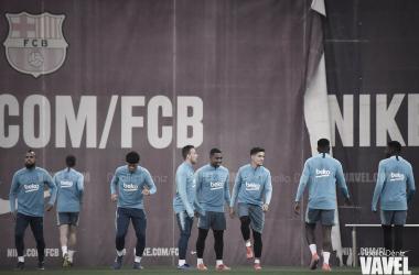 Los jugadores del FC Barcelona en una imagen de archivo / Foto: Noelia Déniz (VAVEL.com)
