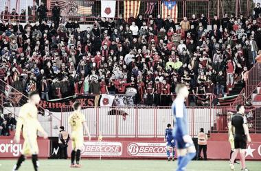 Aficionados del CF Reus desplazados al Nou Estadi | Foto: CF Reus
