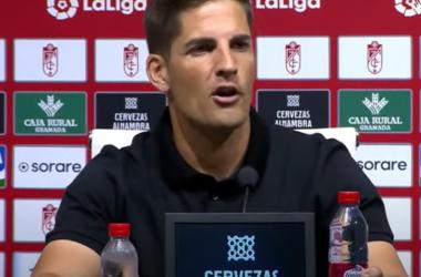Robert Moreno durante la rueda de prensa tras el partido de la Real Sociedad. Foto: Captura LaLIga.