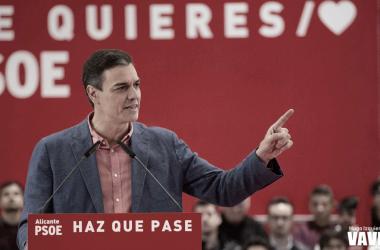 Pedro Sánchez en la pasada campaña. Fuente: Vavel España.