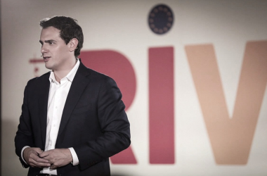 Rivera, uno de los posibles aliados de Sánchez para la investidura. Fuente: Cuenta oficial de Facebook de Ciudadanos (@Cs.Ciudadanos).