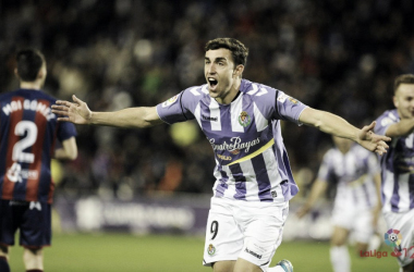 Jaime Mata celebrando un gol esta temporada. // Foto: LaLiga.