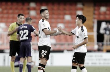 Maxi Gómez alcanza los diez goles en el Valencia