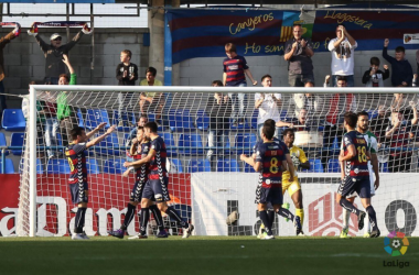 Jugadores de la UE Llagostera la temporada 2015-2016 (Foto: LaLiga)