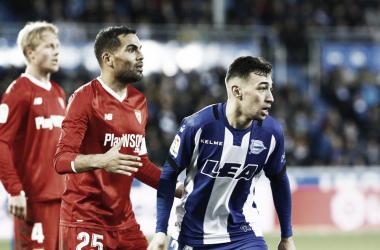 ultimo enfrentamiento en Mendizorroza | Foto: Sevilla FC