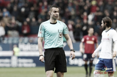 Analizando a Varón Aceitón, árbitro del Numancia - Real Oviedo. | Imagen: LaLiga