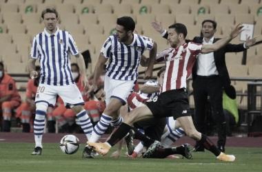 Mikel Merino en la final de la Copa del Rey 2020/Fuente: Real Sociedad Twitter