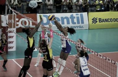 Rexona-Sesc x Praia Clube AO VIVO na semifinal da Copa do Brasil feminina de vôlei. (Reprodução/portal CBV)