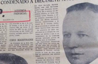 """Fotografía de José Prat Balaguer publicada en 1971 por """"El caso""""   Imagen cedida a Vestigium por Manuel Collado"""