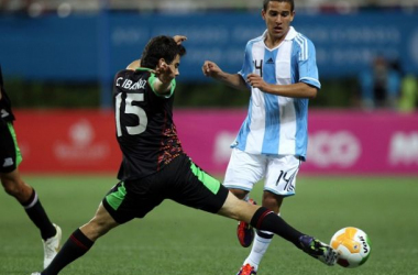 Fragapane durante un partido con Argentina. | Foto: Franjiverdes