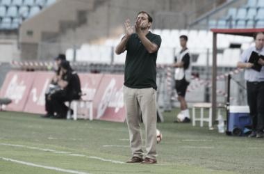 Fran Fernández en el encuentro de ayer | Fuente: UD Almería