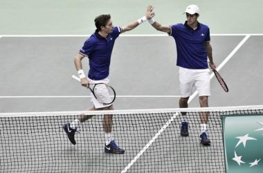 Mahut y Herbert en Copa Davis. Foto: daviscup.com