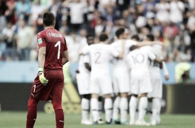 Francia Uruguay en Rusia 2018. Foto: FIFA.