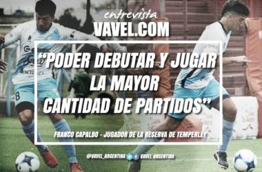 Franco Capalbo, jugador de la reserva de Temperley. Foto: VAVEL.