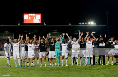 <div>Eintracht Frankfurt celebrate after winning their Europa League Third Qualifying Round match vs FC Vaduz | Photo: Getty/ TF-images<br></div>