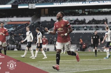 Fred celebrando el empate del partido / Foto: Manchester United