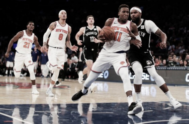 Fitting that the New York Knicks' first victory came against the Brooklyn Nets. Photo: AP/Julie Jacobson