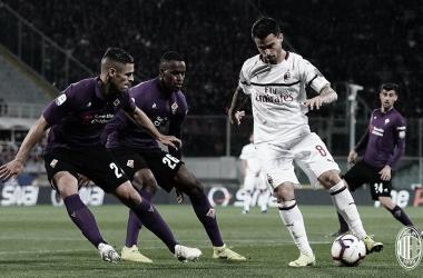 Suso en acción / Foto: Twitter de AC Milan