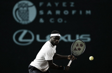 Frances Tiafoe in azione a Houston. Fonte: US Men's Clay Court/Twitter