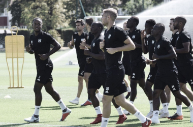 Fulham em treino preparatório (Fonte: Twitter/Fulham)