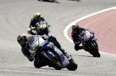 Andrea Iannone en el Gran Premio de América. Foto: Suzuki oficial
