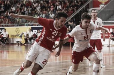Braga na final do campeonato de Futsal   Fonte: site oficial SL Benfica