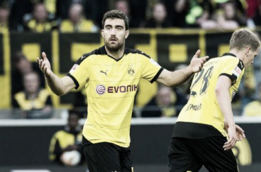 Sokratis prorroga su contrato con el Borussia Dortmund hasta 2019. || Foto: BVB.
