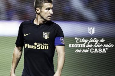 Capitão da equipe, volante Gabi renova com Atlético de Madrid por mais uma temporada