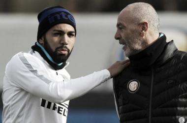 Imagen de Gabigol con Pioli. | Foto: FC Inter