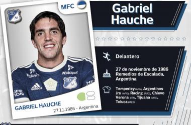 Gabriel Hauche, último fichaje 'azul'. Imagen: Millonarios FC.