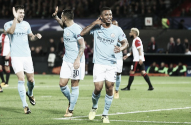 Gabriel Jesus marca de novo, Man City se impõe em Roterdã e amassa Feyenoord