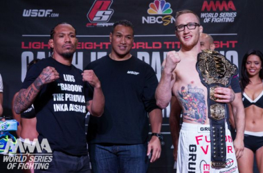 Luis Palomino (right) and Justin Gaethje with a possible fight of the year at WSOF 19 / WSOF.com