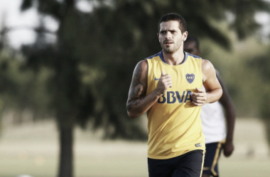 Gago estuvo entrenándose con normalidad y formará parte de la lista de concentrados. Foto: Diario Xeneize