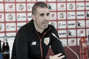 Garitano en rueda de prensa. Foto: Athletic Club