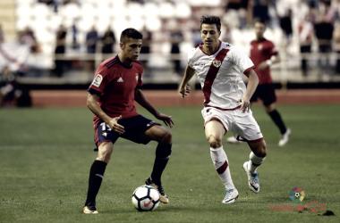 Ernesto Galán durante un partido con la franja. Fotografía: La Liga