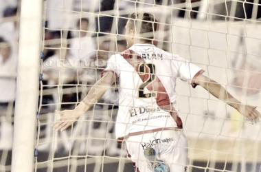 Galán celebrando un gol. Fotografía: Rayo Vallecano S.A.D