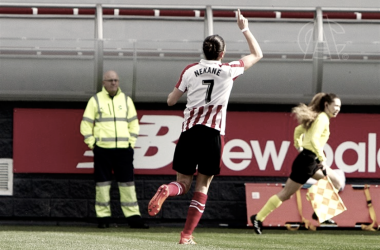 Nekane celebra su gol. | FOTO: Athletic Club