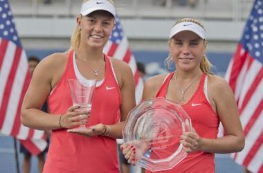 US Open junior finalists Dalma Galfi and Sofia Kenin lead Eddie Herr girls draw/ Photo: ITF