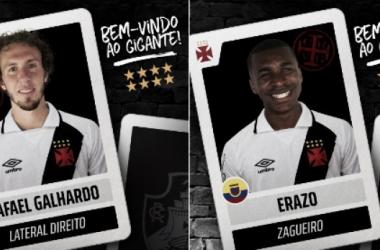 Rafael Galhardo e Erazo já treinam com a delegação do Vasco na pré-temporada (Foto: Divulgação/Vasco)